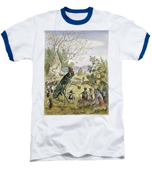 Grasshopper And Ant Baseball T-Shirt by Granger