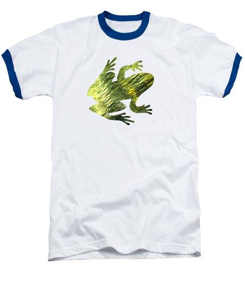 Green Abstract Water Reflection Baseball T-Shirt by Christina Rollo