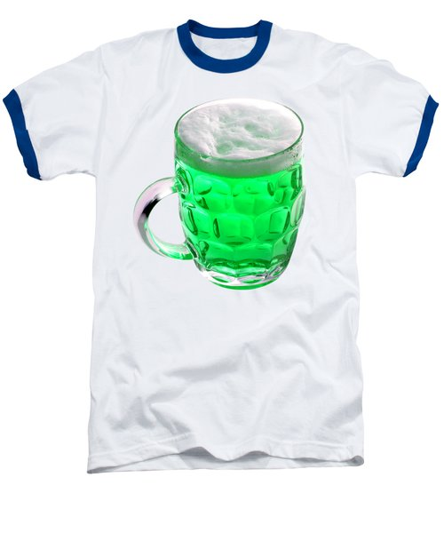 Green Beer Baseball T-Shirt by Stephanie Brock