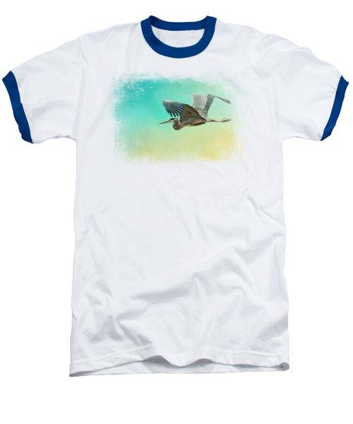 Heron At Sea Baseball T-Shirt by Jai Johnson