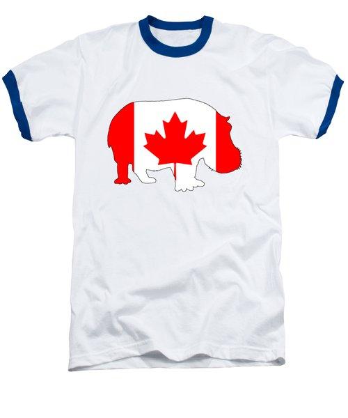 Hippopotamus Canada Baseball T-Shirt by Mordax Furittus