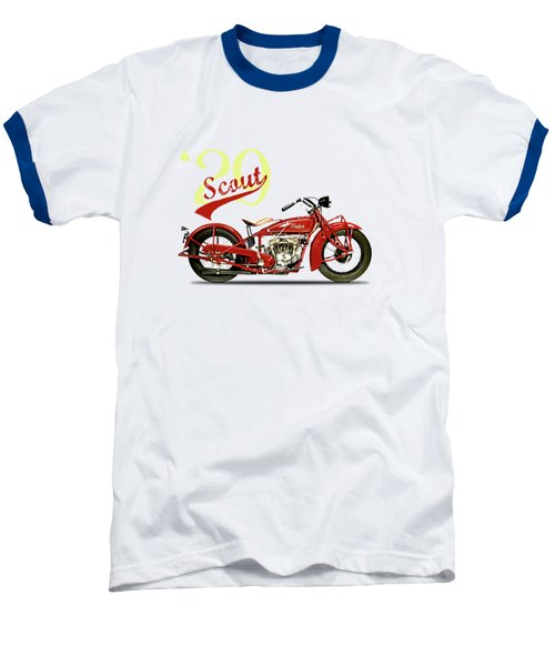 Indian Scout 101 1929 Baseball T-Shirt by Mark Rogan
