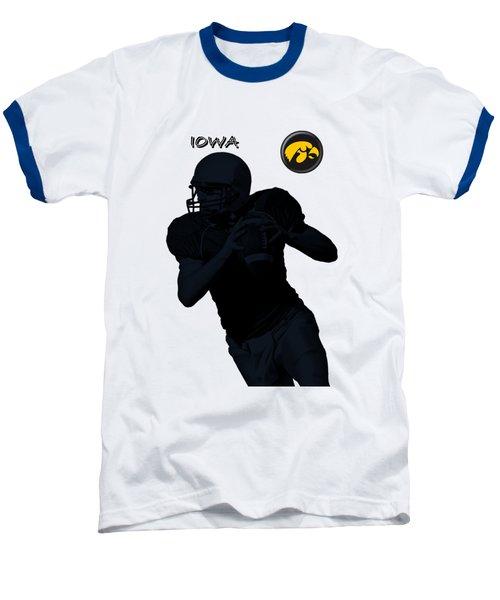 Baseball T-Shirt featuring the digital art Iowa Football  by David Dehner