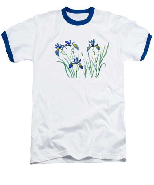 Iris In Japanese Style Baseball T-Shirt by Color Color
