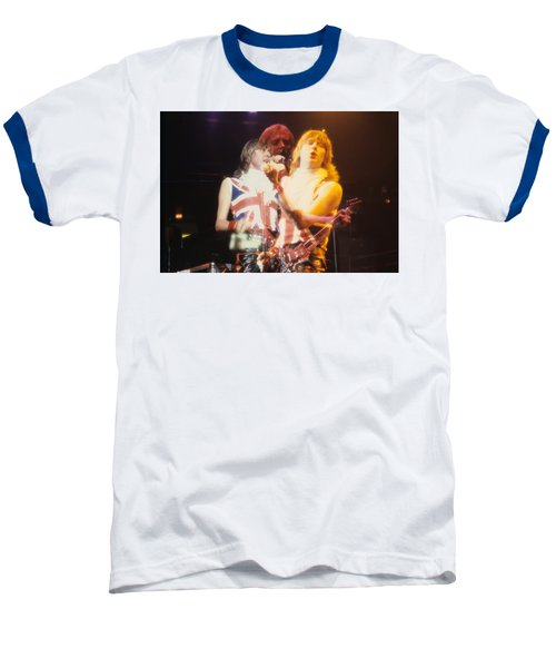 Joe And Phil Of Def Leppard Baseball T-Shirt by Rich Fuscia