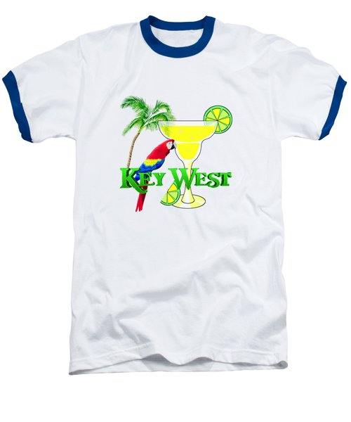 Key West Margarita Baseball T-Shirt by Chris MacDonald