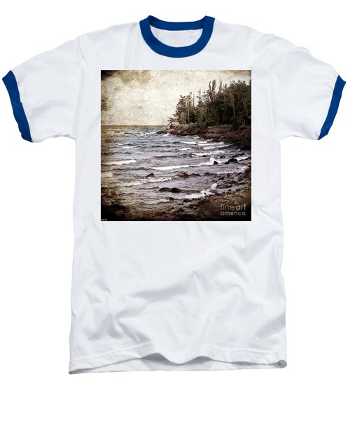 Baseball T-Shirt featuring the photograph Lake Superior Waves by Phil Perkins