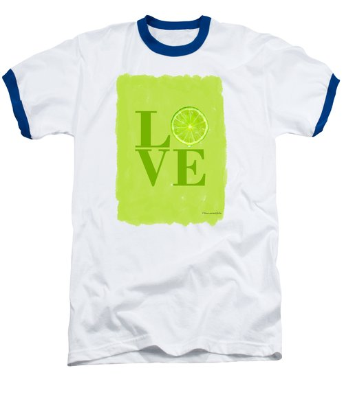 Lime Baseball T-Shirt by Mark Rogan