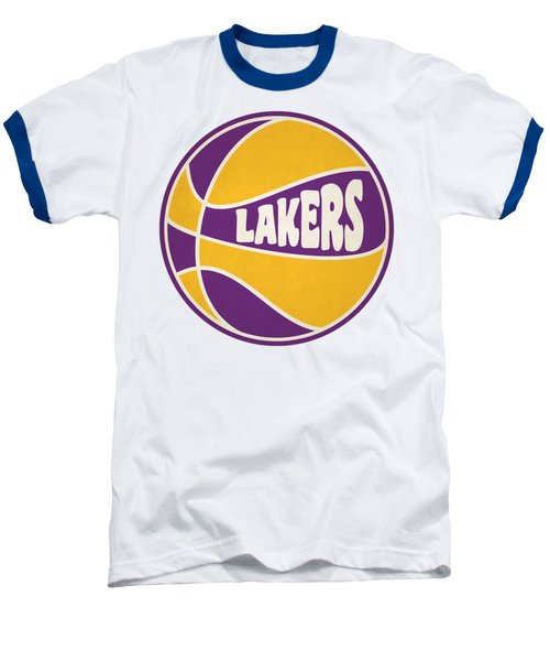 Los Angeles Lakers Retro Shirt Baseball T-Shirt by Joe Hamilton