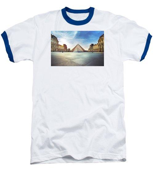 Louvre Museum Baseball T-Shirt by Ivan Vukelic