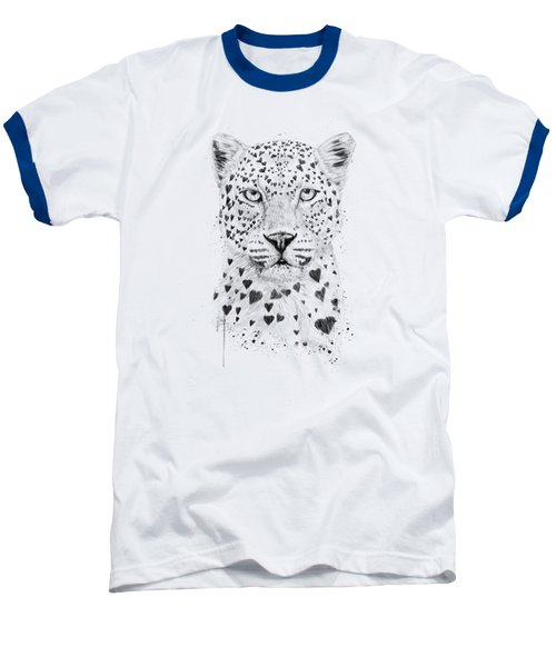 Lovely Leopard Baseball T-Shirt by Balazs Solti