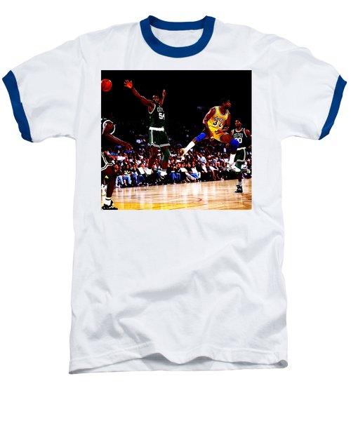 Magic Johnson No Look Pass 7a Baseball T-Shirt by Brian Reaves