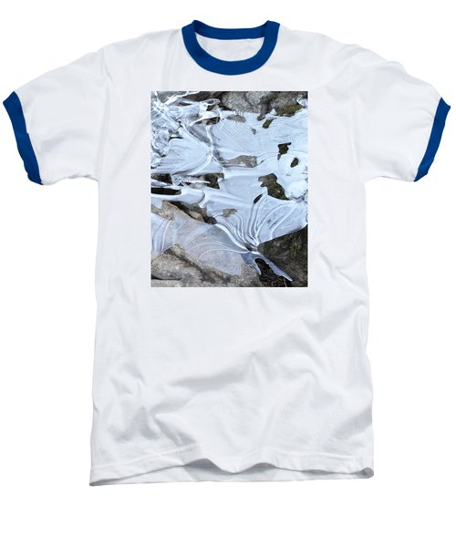 Baseball T-Shirt featuring the photograph Ice Mask Abstract by Glenn Gordon
