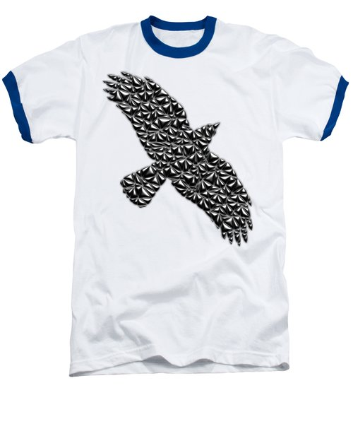 Metallic Crow Baseball T-Shirt by Chris Butler
