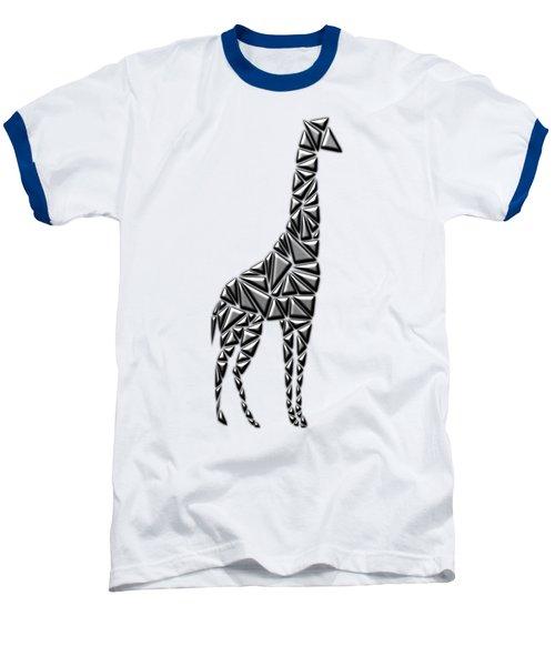 Metallic Giraffe Baseball T-Shirt by Chris Butler