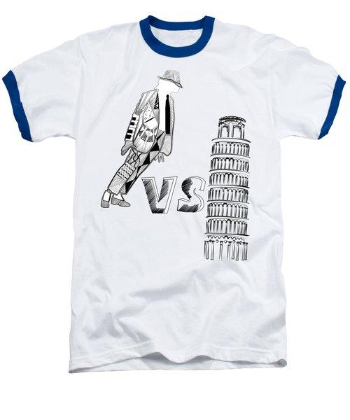 Mj Vs Pisa Baseball T-Shirt by Serkes Panda