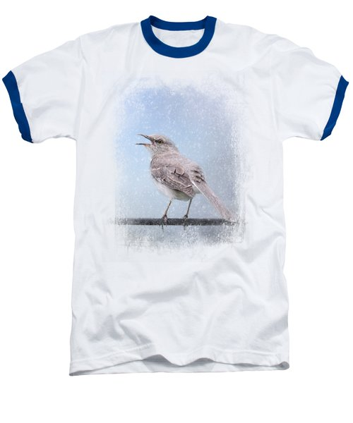 Mockingbird In The Snow Baseball T-Shirt by Jai Johnson