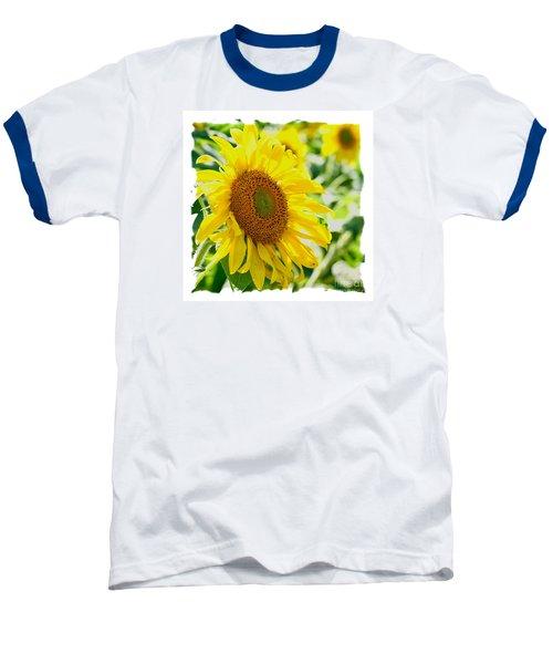 Baseball T-Shirt featuring the photograph Morning Glory Farm Sun Flower by Vinnie Oakes