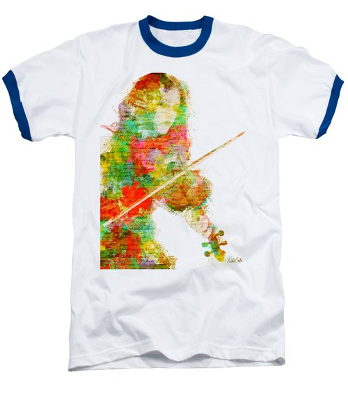 Music In My Soul Baseball T-Shirt by Nikki Smith