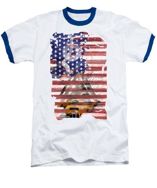 New York City Geometric Mix No. 8 Baseball T-Shirt by Melanie Viola
