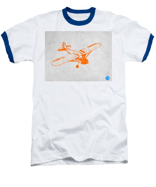 Orange Plane 2 Baseball T-Shirt by Naxart Studio