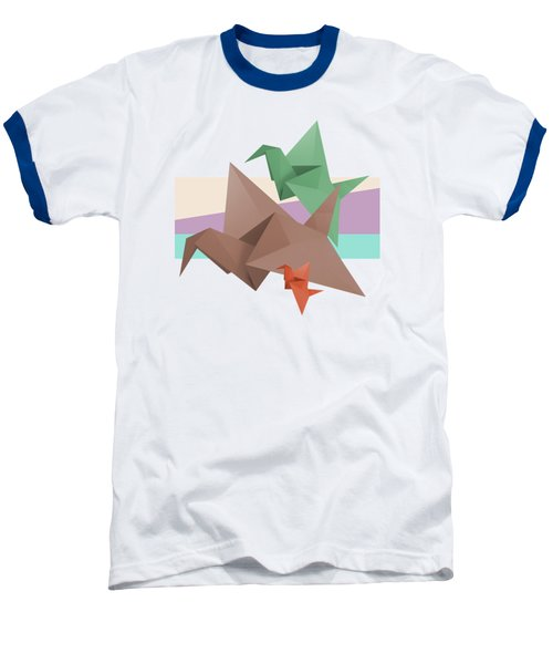 Paper Cranes Baseball T-Shirt by Absentis Designs