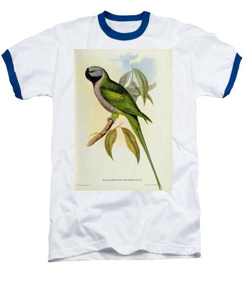 Parakeet Baseball T-Shirt by John Gould