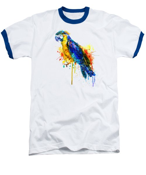 Parrot Watercolor  Baseball T-Shirt by Marian Voicu
