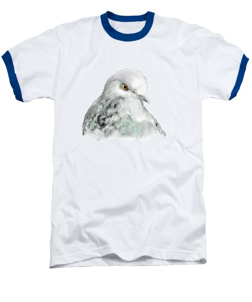 Pigeon Baseball T-Shirt by Bamalam  Photography