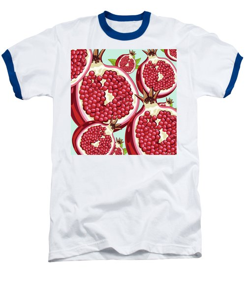 Pomegranate   Baseball T-Shirt by Mark Ashkenazi
