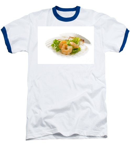 Prawn Appetizer Baseball T-Shirt by Amanda Elwell