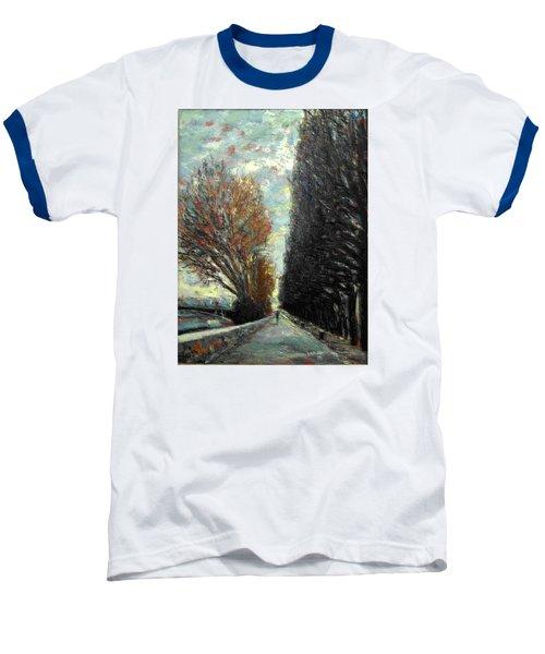Baseball T-Shirt featuring the painting Promenade by Walter Casaravilla