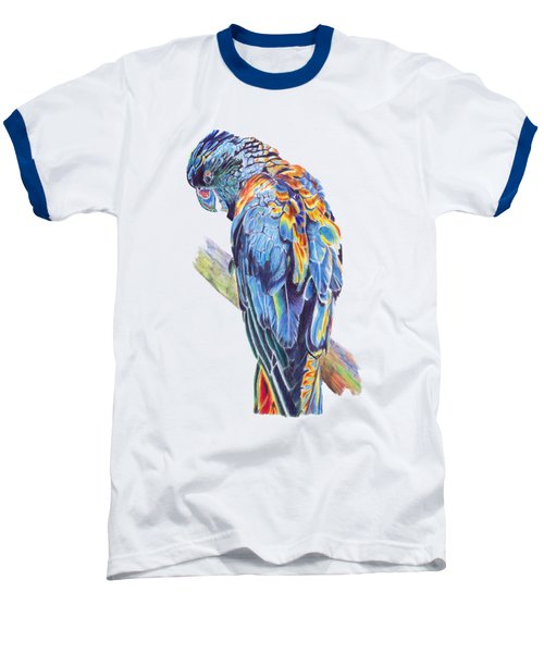 Psychedelic Parrot Baseball T-Shirt by Lorraine Kelly