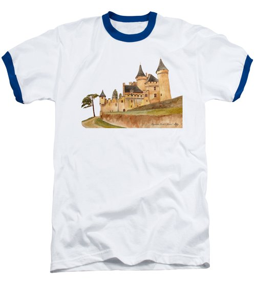 Puymartin Castle Baseball T-Shirt by Angeles M Pomata