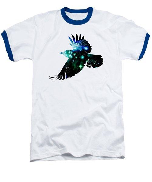 Raven Baseball T-Shirt by Anastasiya Malakhova