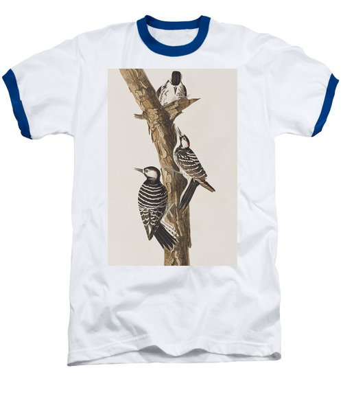Red-cockaded Woodpecker Baseball T-Shirt by John James Audubon