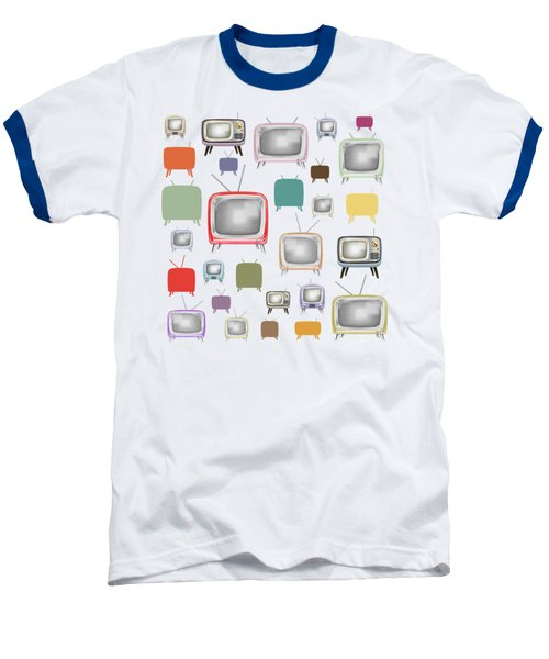 Baseball T-Shirt featuring the painting Retro T.v. by Setsiri Silapasuwanchai