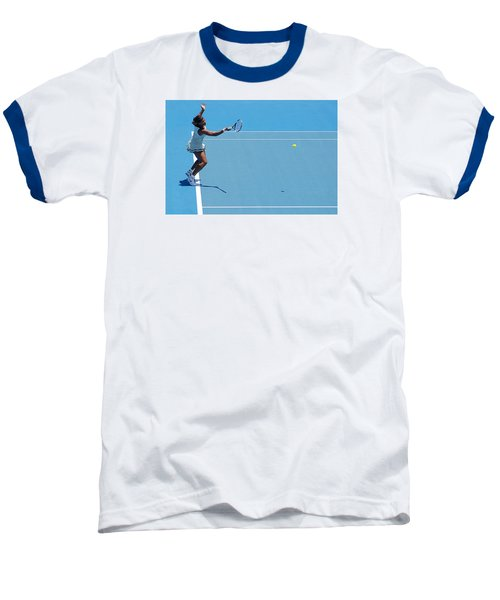 Return - Serena Williams Baseball T-Shirt by Andrei SKY