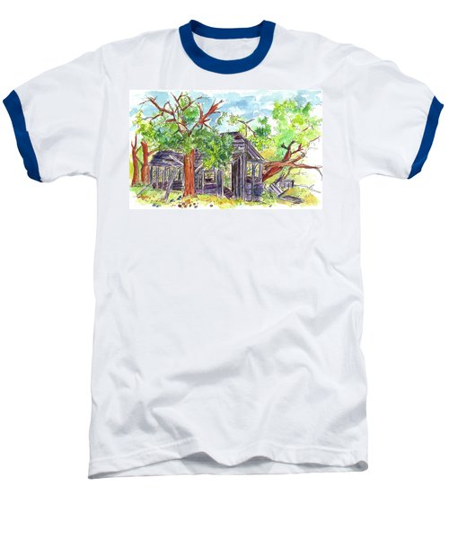 Baseball T-Shirt featuring the painting Rockland Cabin by Cathie Richardson