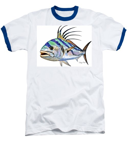 Roosterfish Digital Baseball T-Shirt by Carey Chen