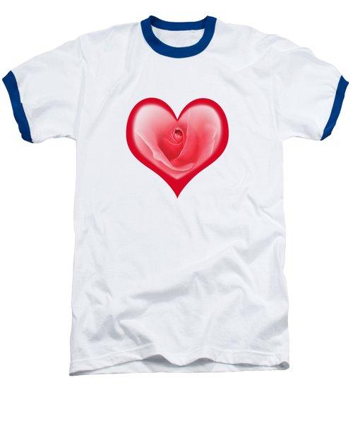 Rose Heart T-shirt And Print By Kaye Menner Baseball T-Shirt by Kaye Menner
