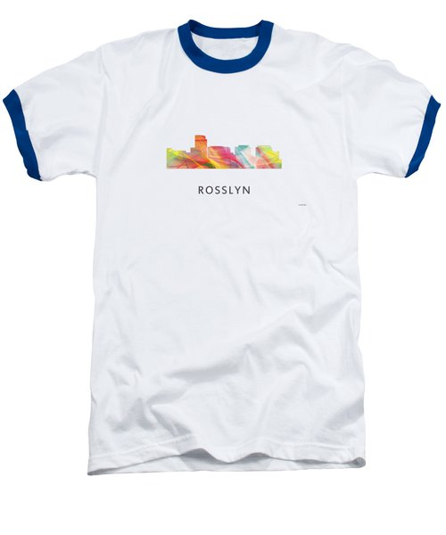 Rosslyn Virginia Skyline Baseball T-Shirt by Marlene Watson