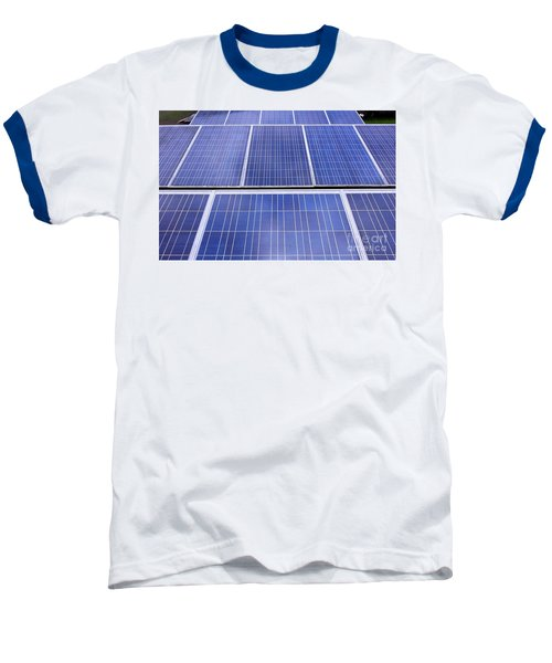 Baseball T-Shirt featuring the photograph Rows Of Solar Panels by Yali Shi
