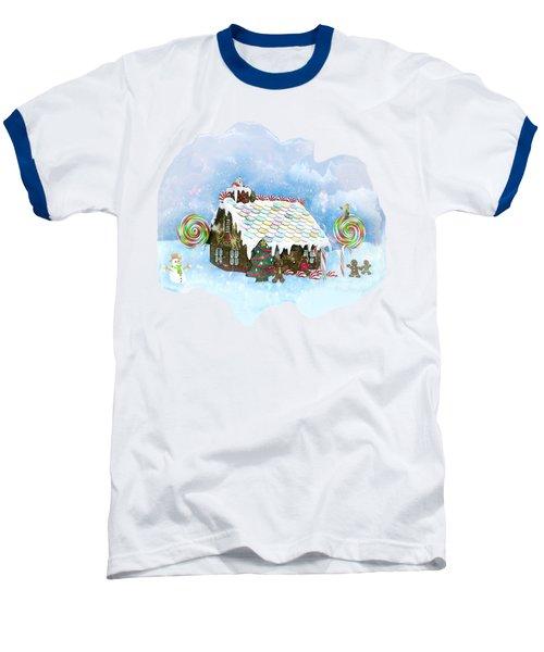 Santa Loves Cookies Baseball T-Shirt by Methune Hively