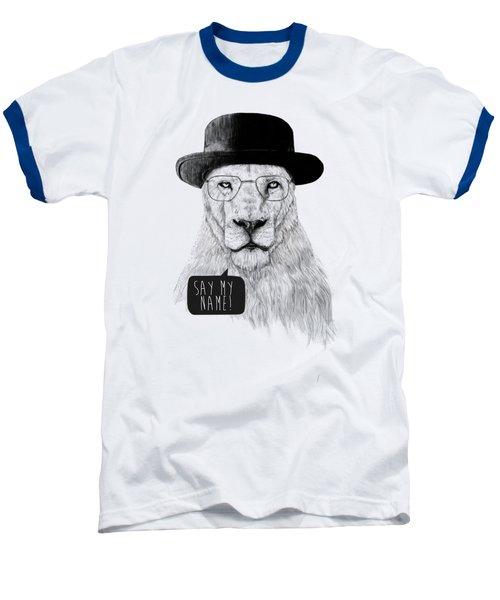 Say My Name Baseball T-Shirt by Balazs Solti