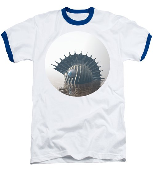 Baseball T-Shirt featuring the digital art Sea Monsters by Phil Perkins