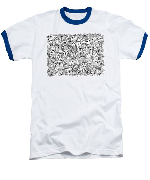 Sea Of Flowers And Seeds At Night Horizontal Baseball T-Shirt by Tamara Kulish
