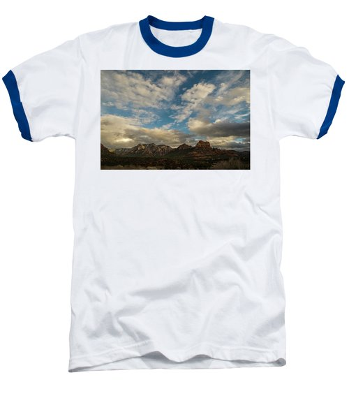 Sedona Arizona Redrock Country Landscape Fx1 Baseball T-Shirt by David Haskett