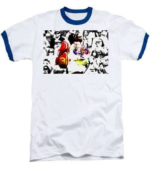 Serena Williams 2f Baseball T-Shirt by Brian Reaves