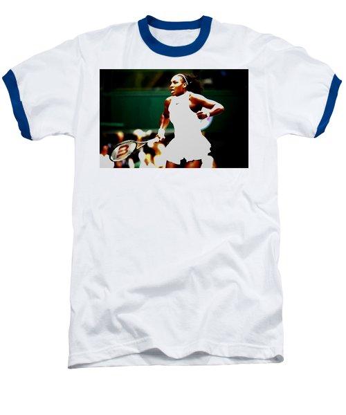 Serena Williams Making History Baseball T-Shirt by Brian Reaves